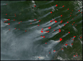 Fires North of Russia's Lake Baikal