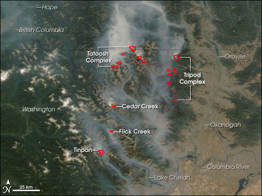 Fires in Northern Washington