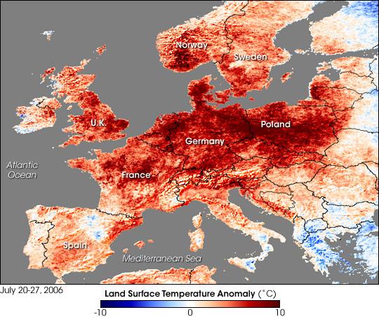 Heat Wave in Western Europe