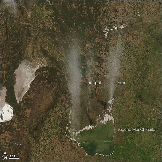 Dust Storm near Laguna Mar Chiquita