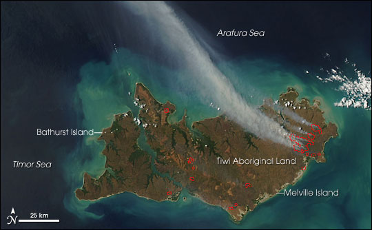 Fires on Melville Island