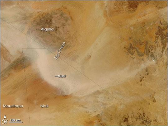 Dust Storm over the Sahara