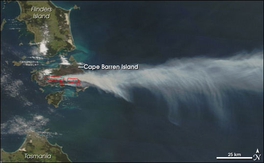 Fires on Cape Barren Island