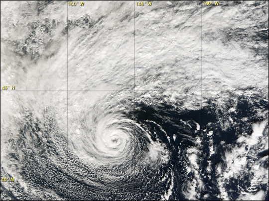 Subtropical Storm off the Coast of Oregon