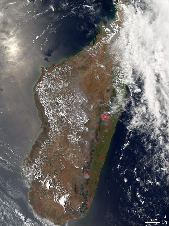 Fires on Madagascar