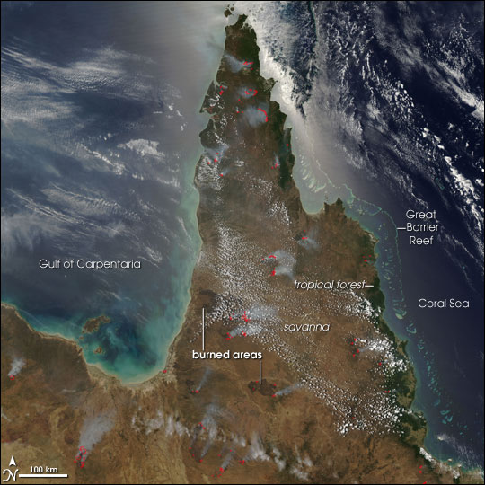 Fires on Cape York Peninsula