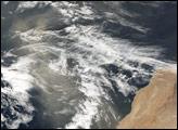 Dust off Northwestern Africa