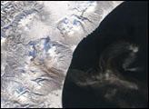 Plume from Karymsky Volcano