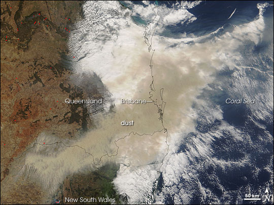 Dust Storm near Brisbane, Australia
