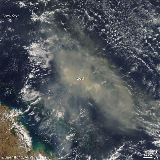Dust Storm near Brisbane, Australia