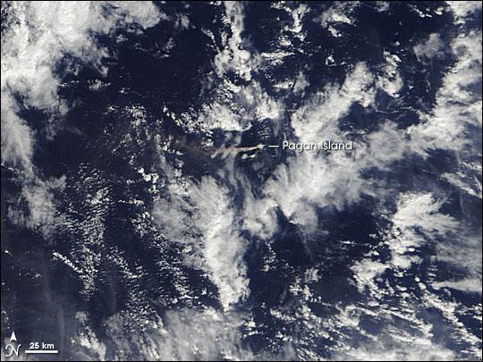 Volcanic Activity on Pagan Island