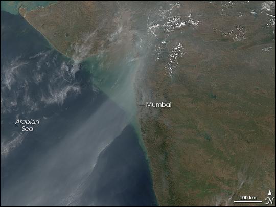 NASA Visible Earth: Haze over Southwestern India