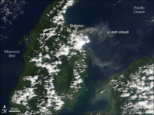 Volcanic Activity on Dukono