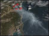 Fires in Northeastern Tasmania