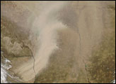 Dust in Iran and Turkmenistan