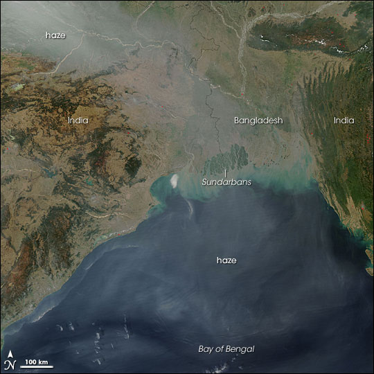 Haze and Sediment in Bangladesh and India