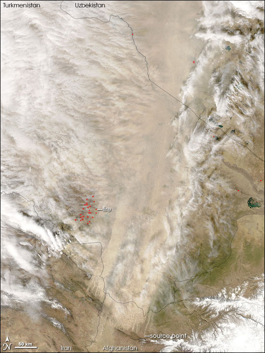 Dust Storm over Turkmenistan