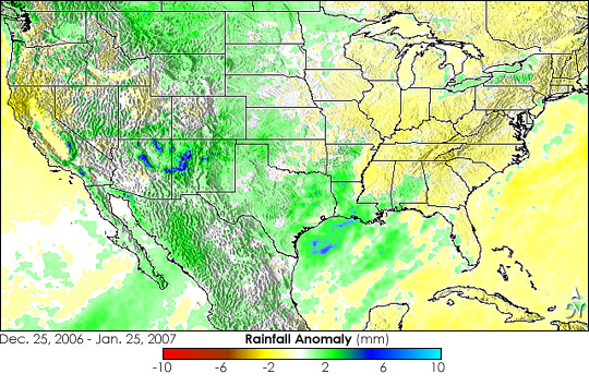 El Nino Rainfall Patterns over the United States