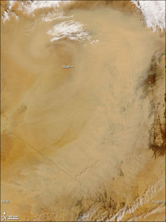 Dust Storm from the Sahara Desert