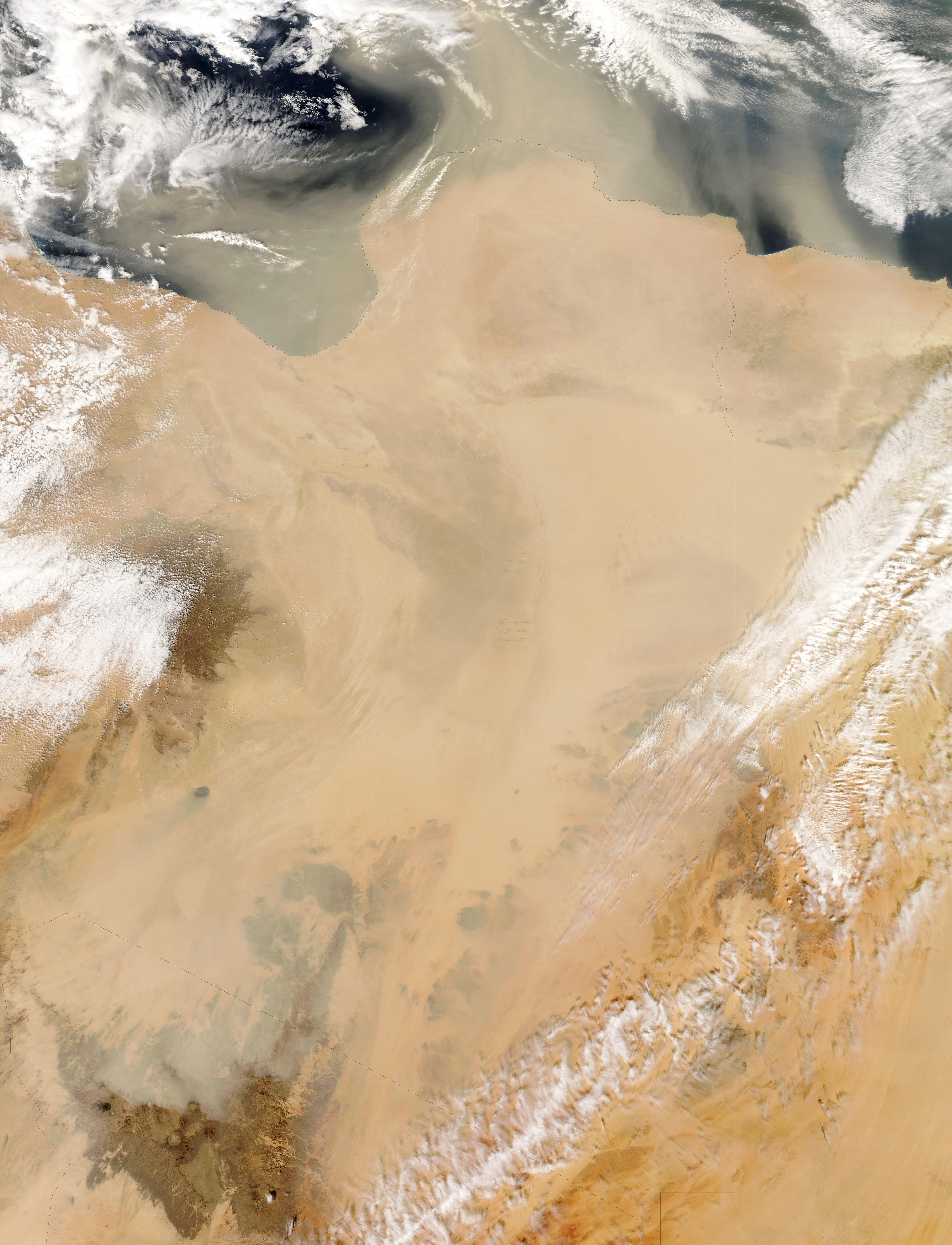 NASA Visible Earth: Dust Storm over Libya