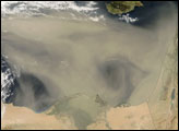 Dust Storm over the Mediterranean Sea
