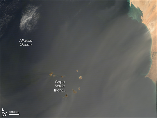 Dust Storm out of Western Africa