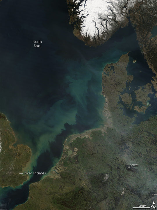 Thames River Plume in the North Sea