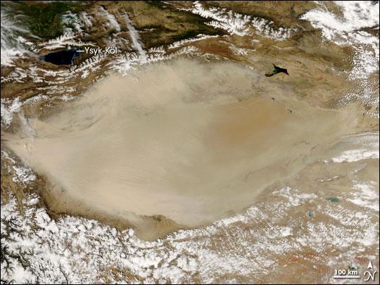 Dust Storm in the Taklimakan Desert