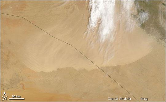 Dust Storm over Saudi Arabia and Iraq