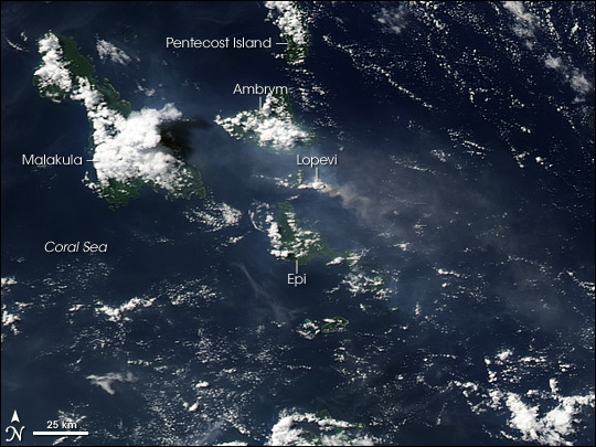 Eruption on Lopevi, Vanuatu