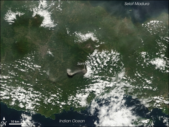 Volcanic Plume from Mount Semeru, Java