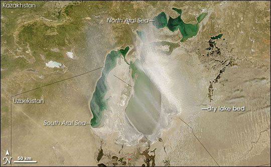 Dust Storm over the South Aral Sea