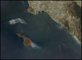 Fire on Santa Catalina Island