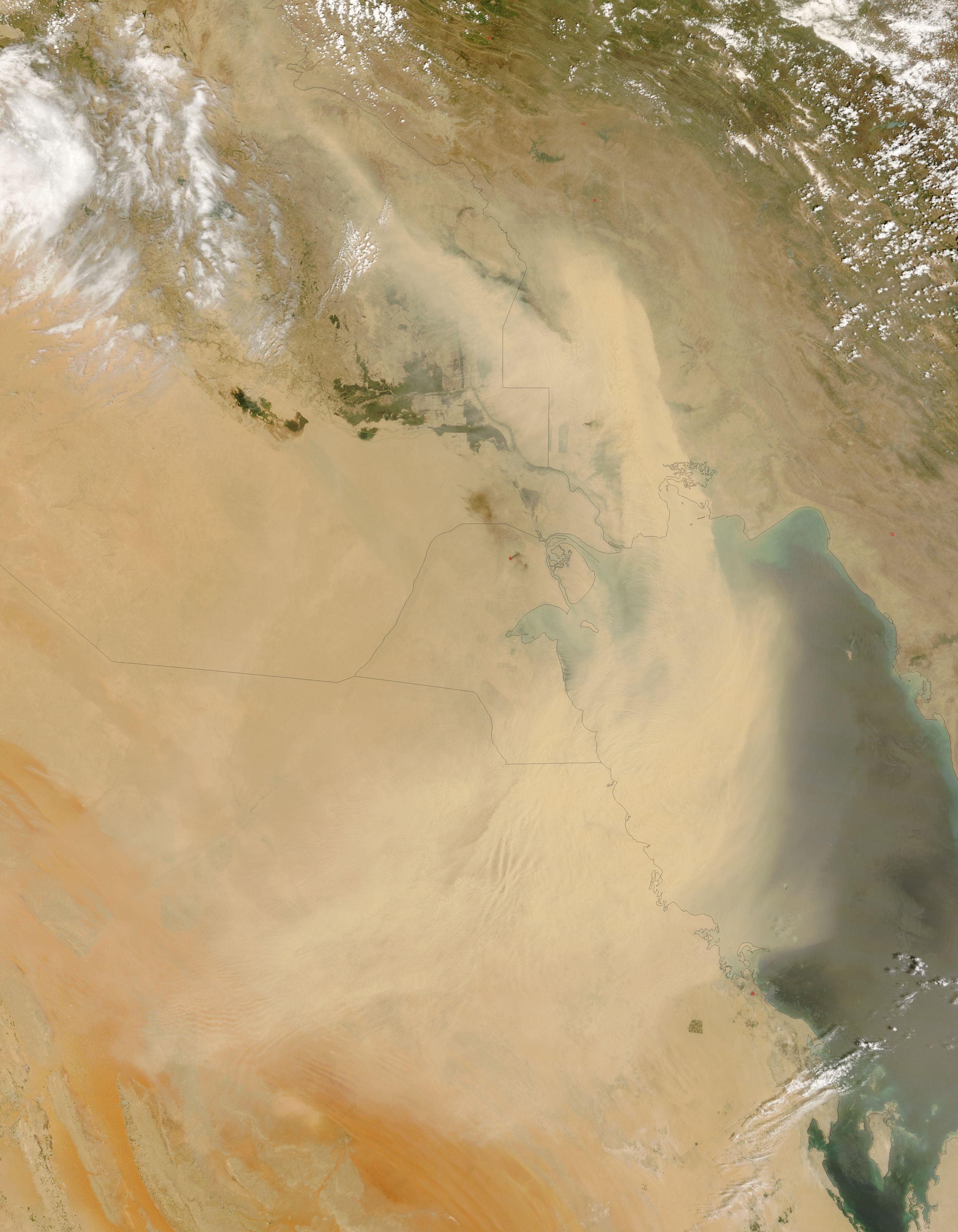 NASA Visible Earth: Dust Storm over the Persian Gulf