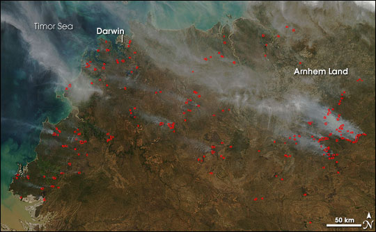 Fires in Northern Territory