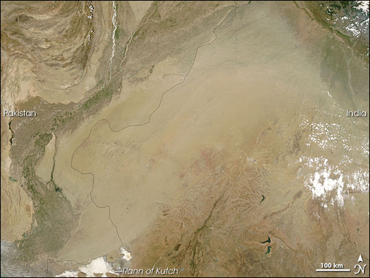 Dust Storm over India and Pakistan