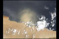 Dust Plume off the Coast of Northern Africa
