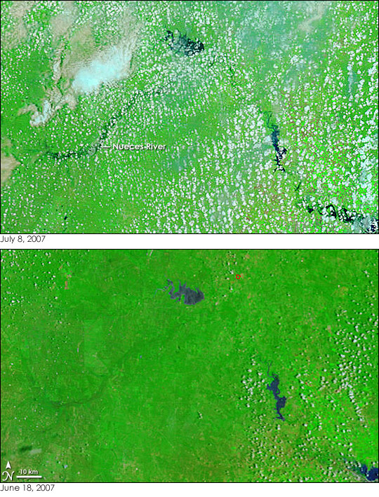 Floods in Texas and Oklahoma