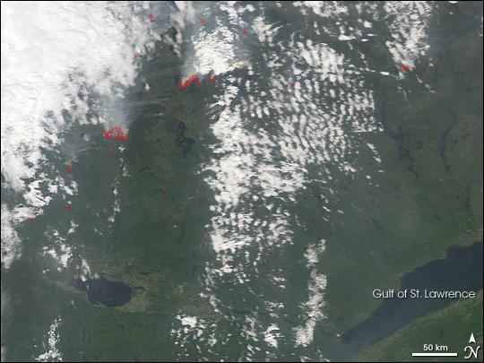 Fires in Eastern Canada