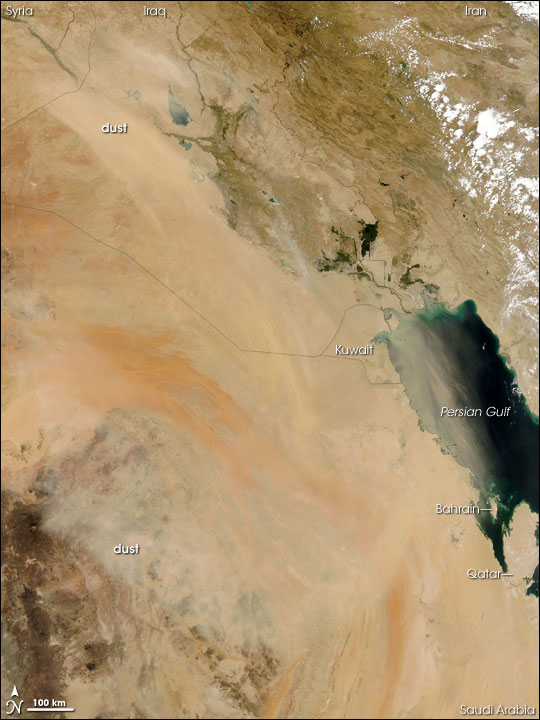 Dust Plume over the Persian Gulf
