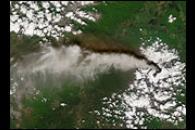 Dual Plume from Klyuchevskaya Volcano