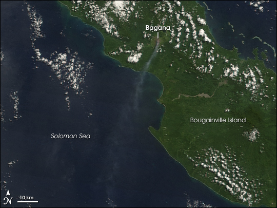 Plume from Bagana, Bougainville Island