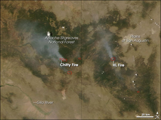 Fires in U.S. Southwest