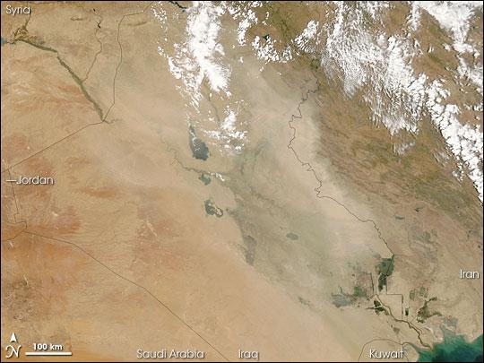 Dust Plume over Iraq