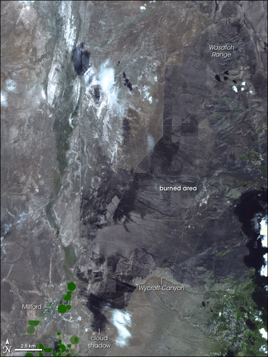 Milford Flat Fire, Utah