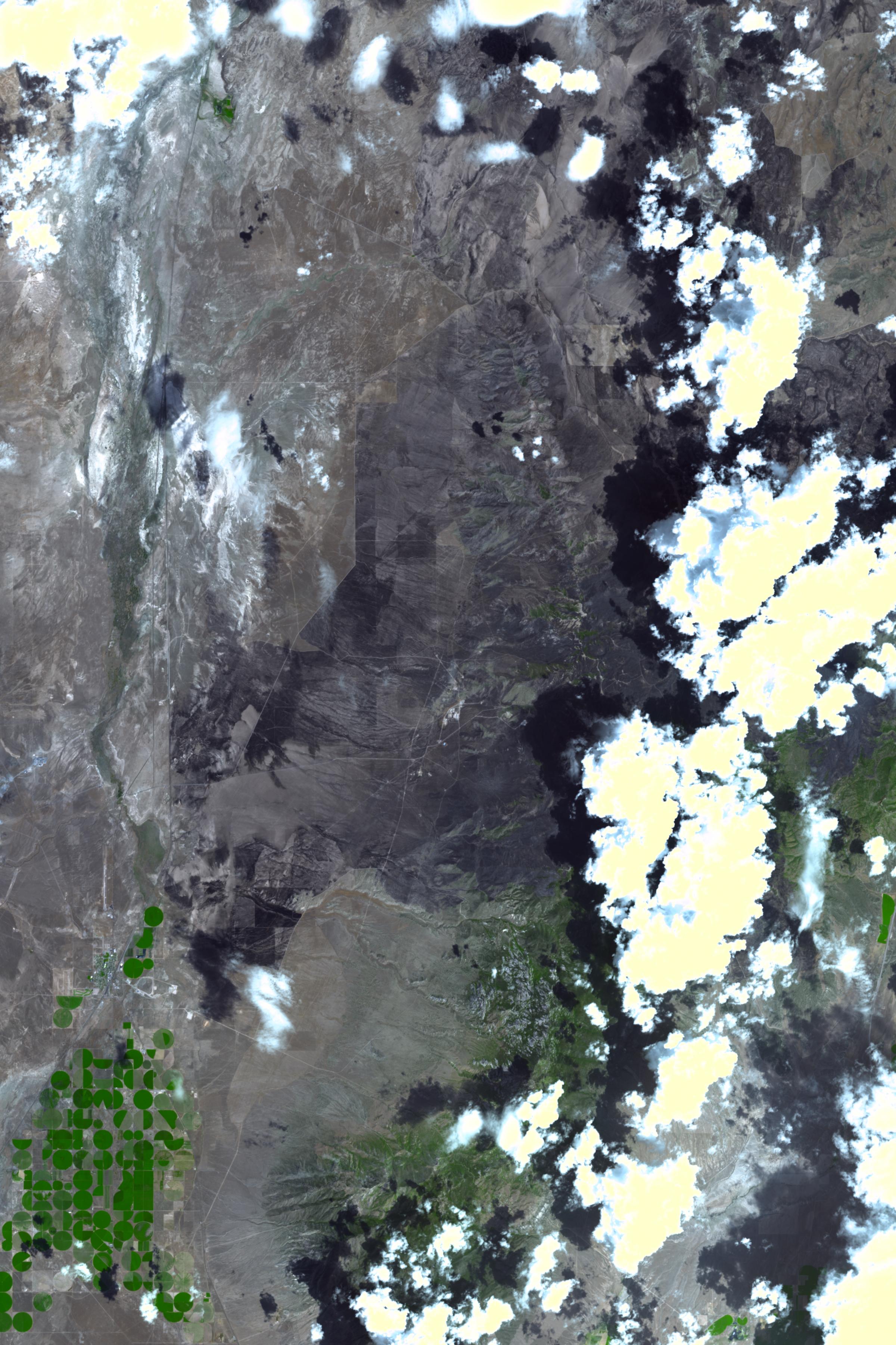 Milford Utah Map.Milford Flat Fire Utah
