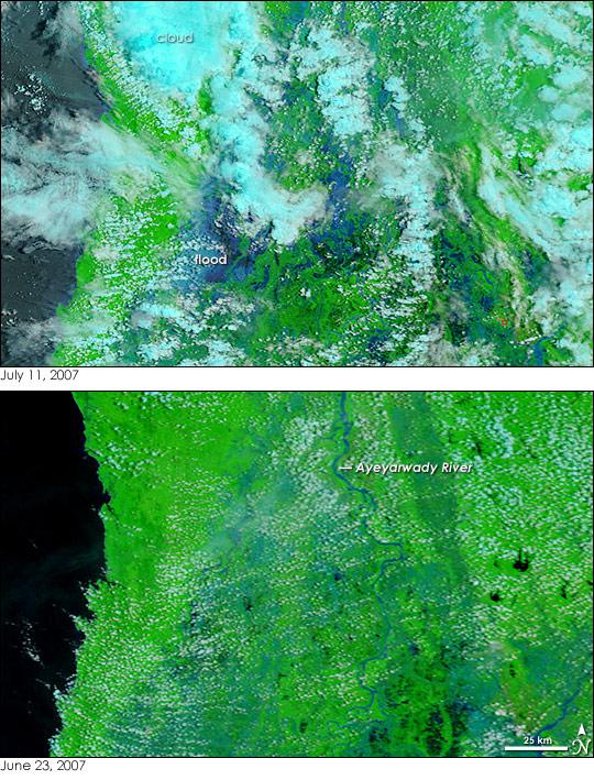 Monsoon Floods in Myanmar