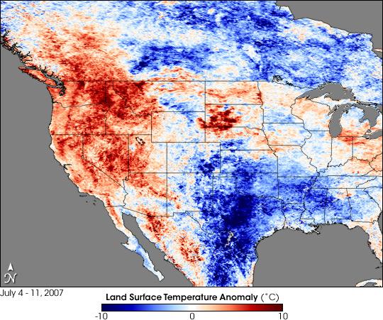 Heatwave in the Western United States