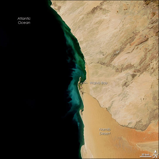 Hydrogen Sulfide Eruption off Namibia