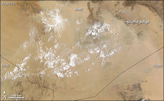 Dust Plumes over Algeria and Niger